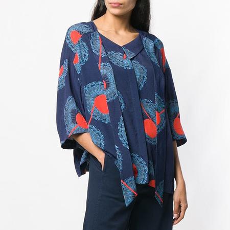 Henrik Vibskov Breeze Shirt - Twister Blue Print