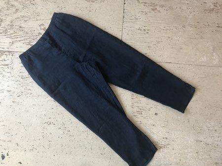 Flax Linen Pants - Navy