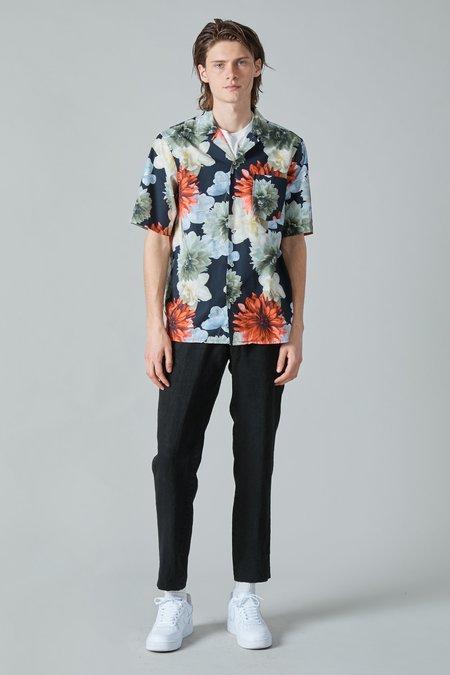 Presidents Poplin Rangi Shirt - Black/Flower Print