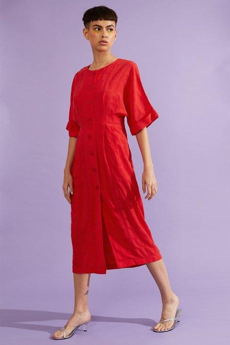 Kurt Lyle DAYANA DRESS - Juicy Red