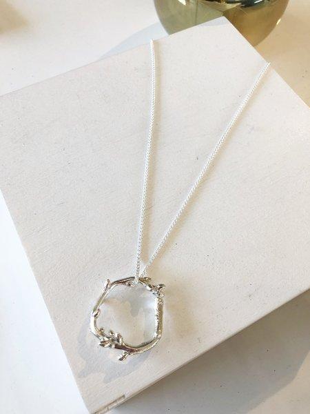 Kate Furman Jewelry Circular Twig Pendant - silver