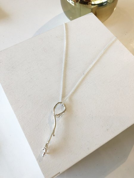 Kate Furman Jewelry Looped Twig Necklace - silver