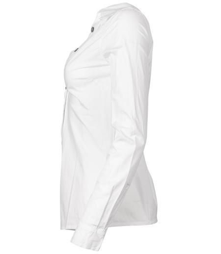 Anika Lenaskarstrom V Neck Popline Shirt - White