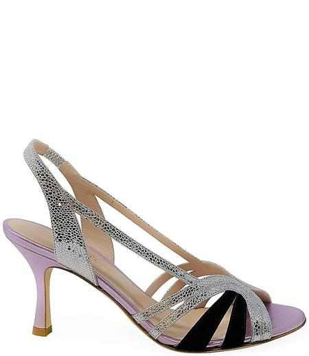 Gia Couture Leather Sandals - V/SL/BLK