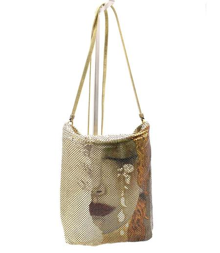Laura B Print Hand Bag - Gold