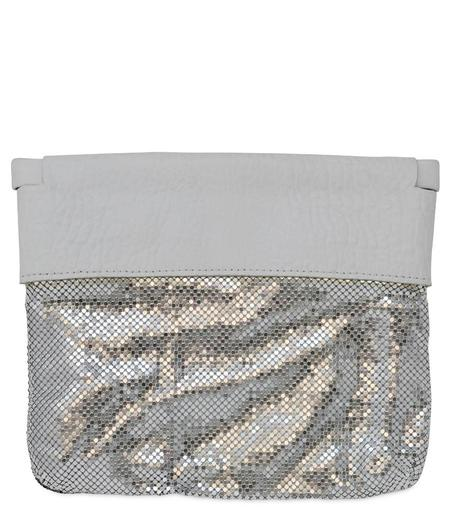Laura B Thea Clutch Handbag - White/Gold