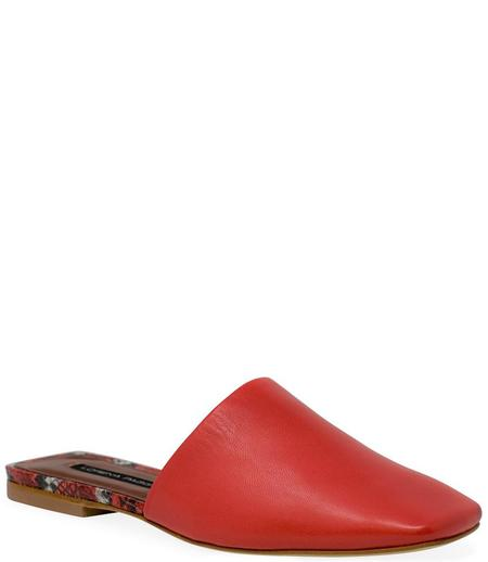 Lorena Paggi Flat Slip On Sandal - Rosso
