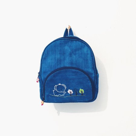 Kids Petit Mioche Fairtrade Hemp Backpack - Indigo