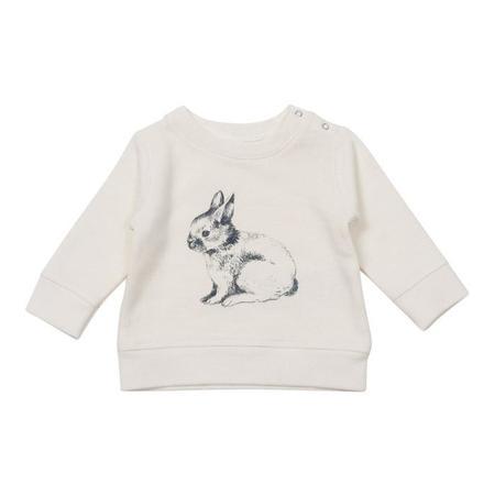 KIDS Bonton Rabbit Sweatshirt - Off-White