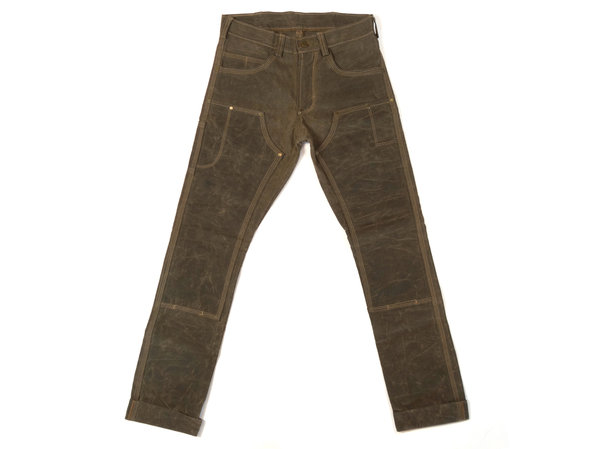 Men's Red Clouds Waxed Canvas Fitted Work Pant
