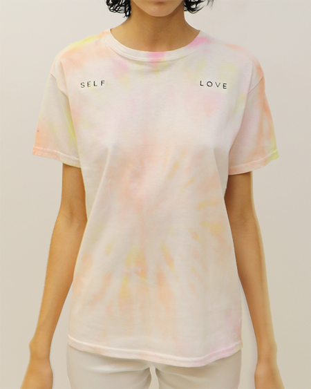 Collina Strada Self Love Tee - White Tie Dye