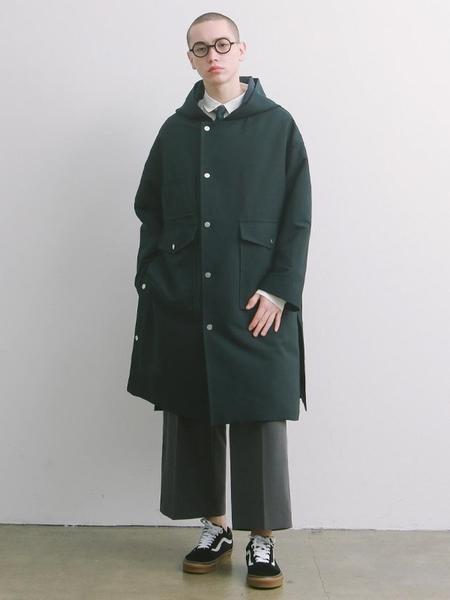 Daily Inn Door Man Oversized Uniform Hoodied Coat - Deep Navy