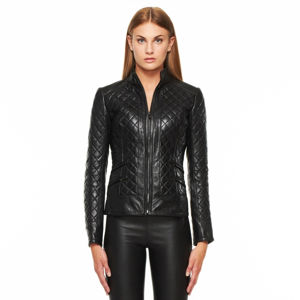 LAMARQUE Quilted Leather Jacket
