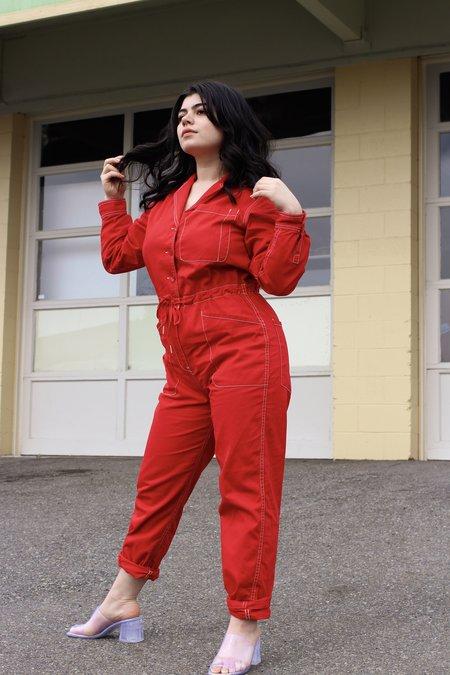 Rachel Antonoff Stephen Boiler Suit - Cherry