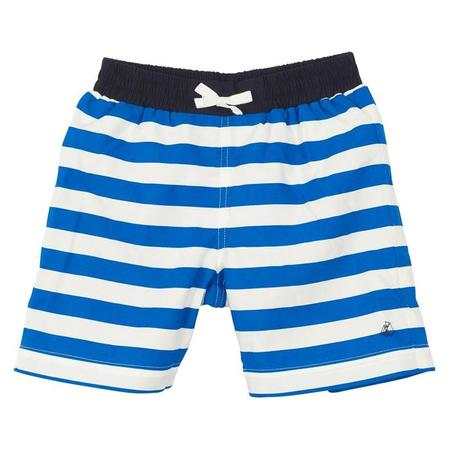 KIDS Petit Bateau Swim Shorts - Blue/White Stripes