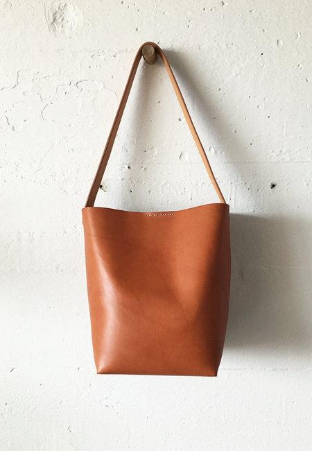 Sara Barner English Bridle Bucket Bag - TAN