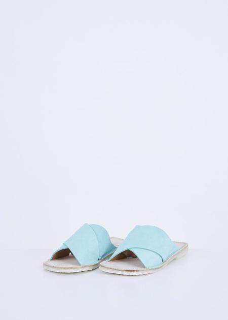 Flamingos Betty Slide Sandal - Aqua Suede