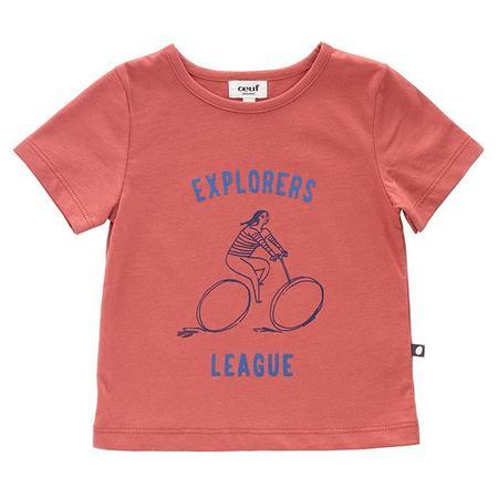 KIDS Oeuf NYC Explorer T-shirt - Rust Pink