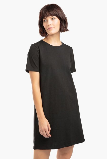 Richer Poorer Tee Dress - black