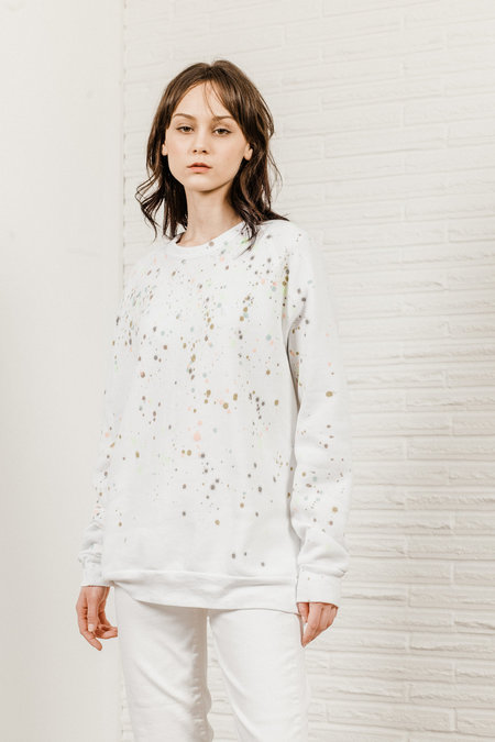 Kate Towers dottie sweatshirt - WHITE