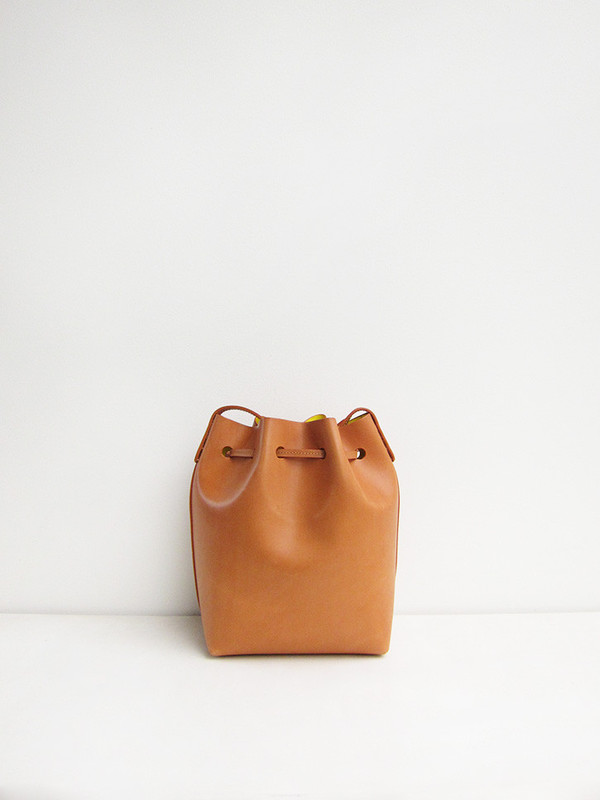 Mansur Gavriel Mini Bucket Bag, Cammello/Sun