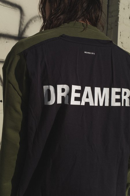 Yang Li Dreamer Tee Jersey Patch Sweatshirt - Khaki