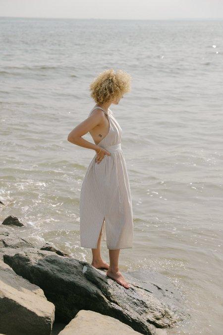 KORDAL ARIANNE DRESS - CREAM / BLACK STRIPE