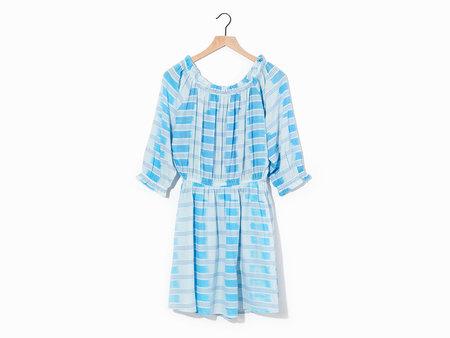 Warm Tropez Dress - Blue/White