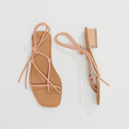 LOQ Ara Leather Sandals - Nude