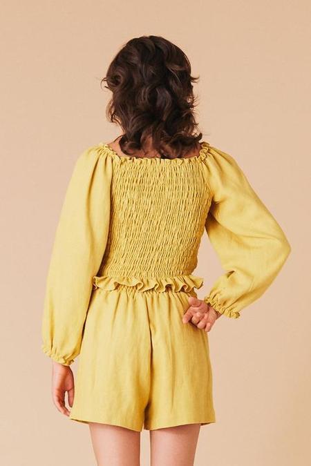 Aquelarre Shop Samantha Pleet Daisy Top - Sunflower Yellow