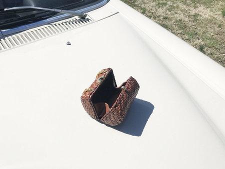 Vintage mini Wicker Barrel