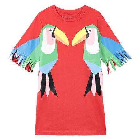 KIDS Stella McCartney Dress With Toucan Print - Red