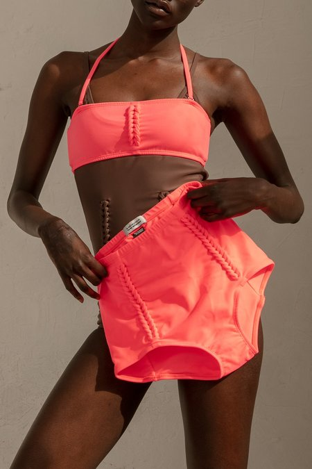 A Détacher Heather Bandeau - Coral Fluo