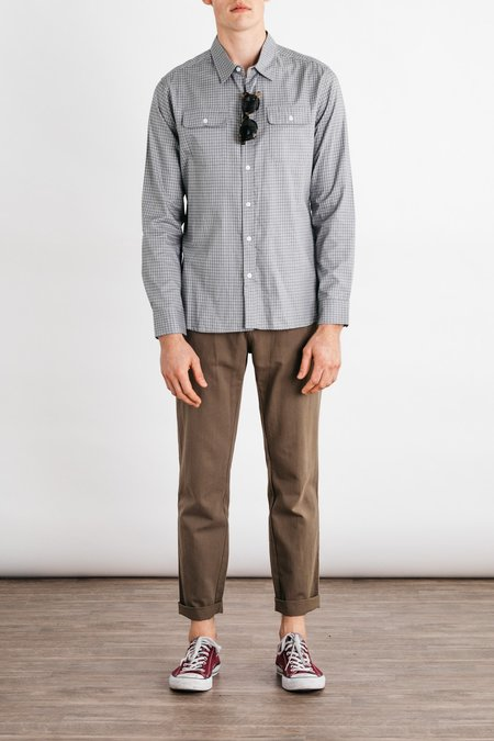 Bridge & Burn Cole Slim-Fit Button Up - Grey Gingham