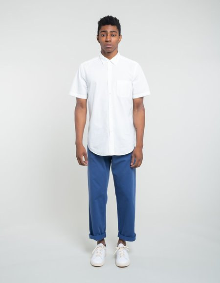 Portuguese Flannel Atlantico Short Sleeve Shirt - White
