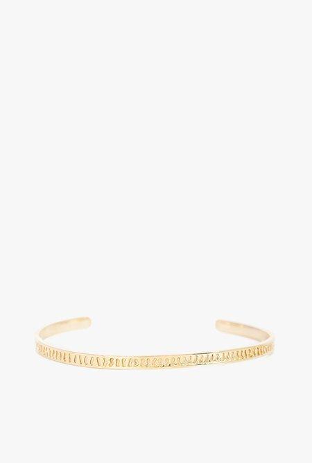 I Like It Here Club Tomboy Cuff Bracelet - Gold Plated Brass