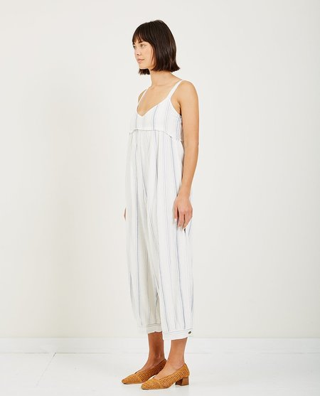 SAINT HELENA MIDSUMMER PANTSUIT - White/Blue Stripes