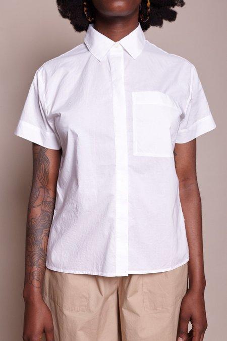 Steven Alan Giza Short Sleeve Boxy Shirt - White