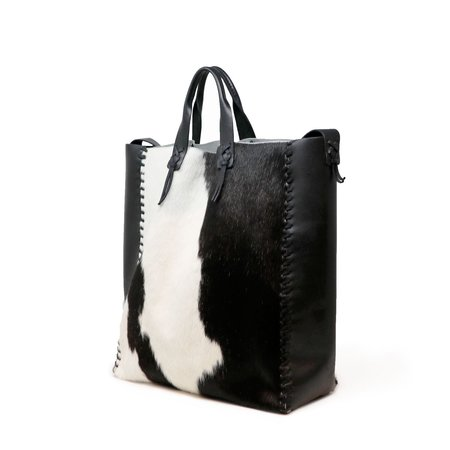 Forager Co. Cowhide Laced Buckskin Bag - Black