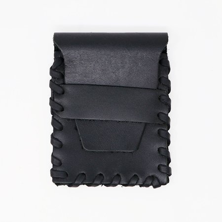 Forager Co. Leather Laced Buckskin Wallet - Black