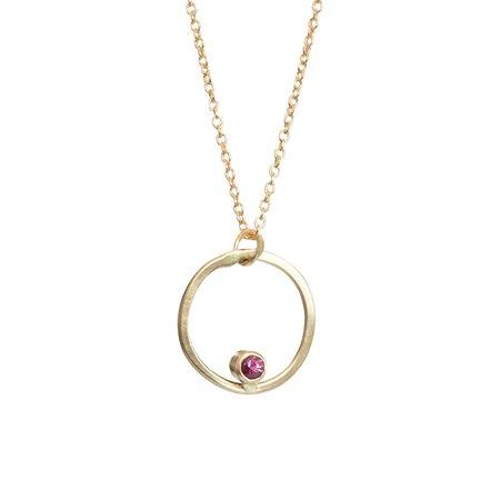 Better Shop Bk Mavericks Hammered Diamond Necklace - Gold