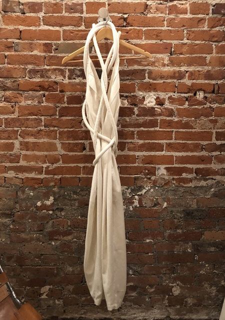 Electric Feathers Rope jumpsuit - white