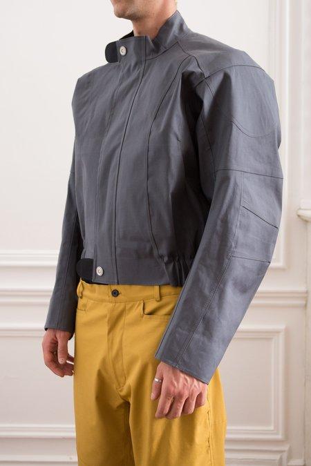 Mackintosh 0004 Bonded Cotton Moto Jacket - Iron Grey