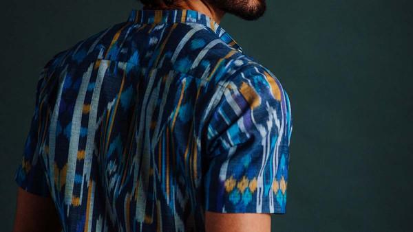 Men's New Market Goods Ikat Popover Shirt