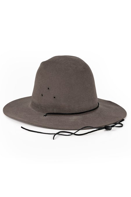 UNISEX BROOKES BOSWELL Vintage 033 Hat - Grey/Black Leather