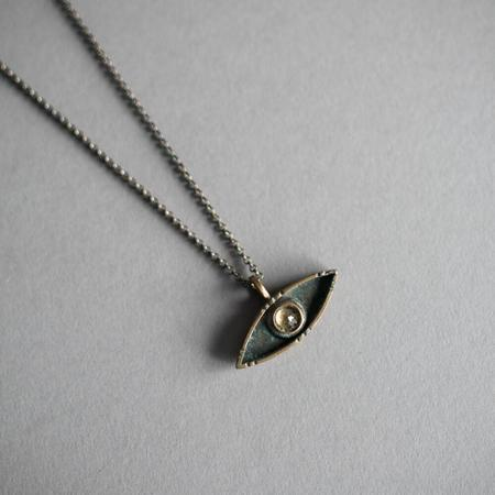 Foxtail Jewelry Solos Evil Eye Necklace - Silver/Citrine