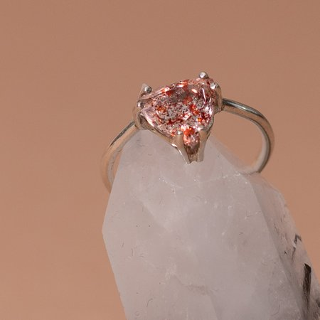 The BEA Line Trillion Ring - Fire Quartz
