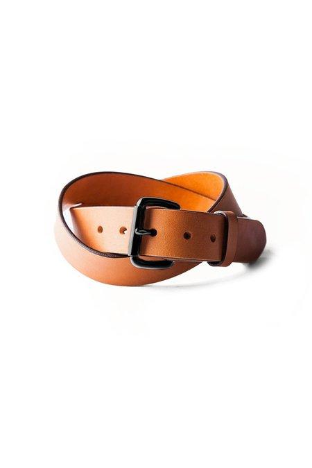 TANNER GOODS Standard Belt - Saddle Tan/Black Hardware