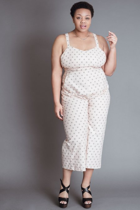 Field Day Juniper Jumpsuit - Pink Four Square