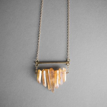 Iron Oxide Multicrystal Necklace - Peach